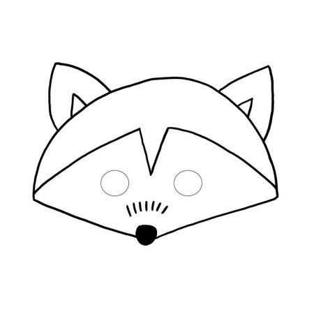 Masques enfants animaux des bois
