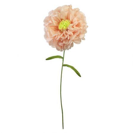 Fleur géante rose blush en papier - 110cm