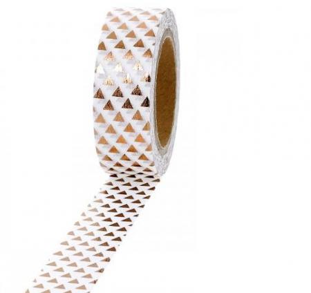 10 m masking tape formes géométriques cuivre - 15mm