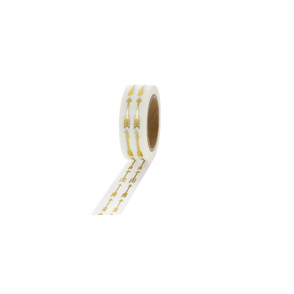 10 m masking tape flèches dorées - 15 mm