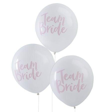 "10 ballons ""Team bride"" EVJF"