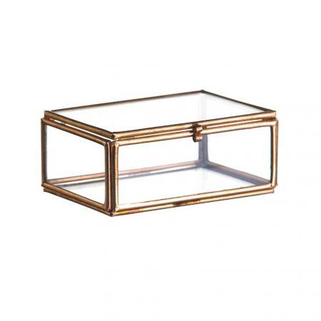 Boîte cuivre double compartiment