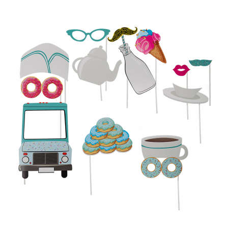 "12 accessoires photobooth ""gourmandises"""