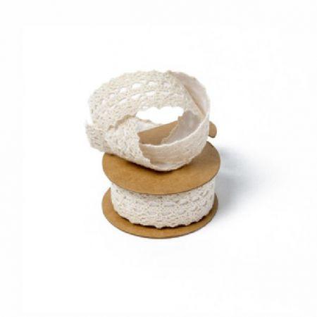 2 m masking tape dentelle crème - 2.5 cm