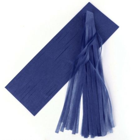 6 tassel bleu marine