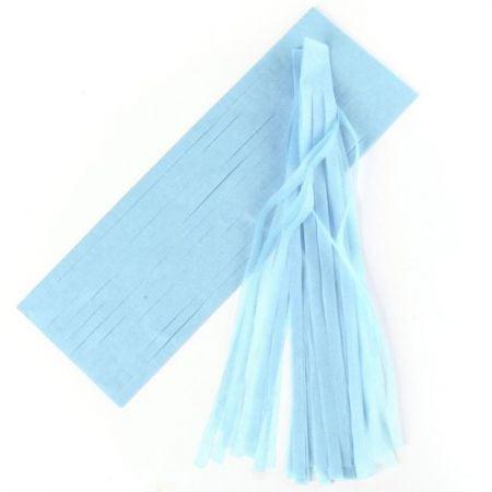 6 tassel bleu ciel