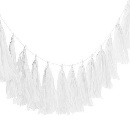 6 tassel blanche