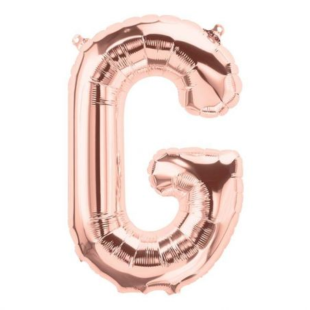 Ballon lettre rose gold mylar - 40cm