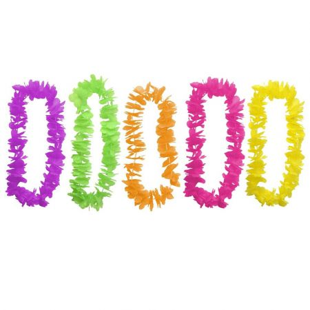 5 colliers de fleurs tropicales