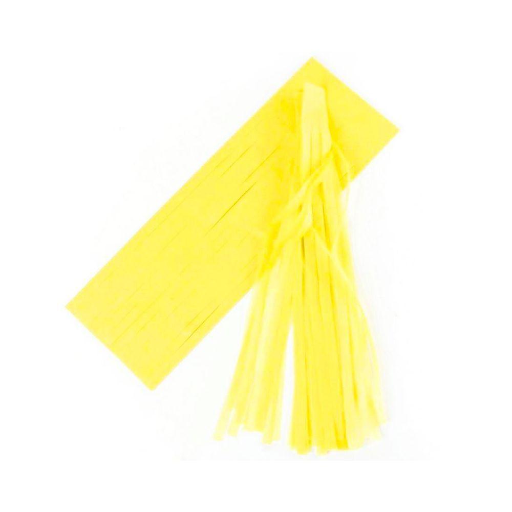 6 tassel jaune