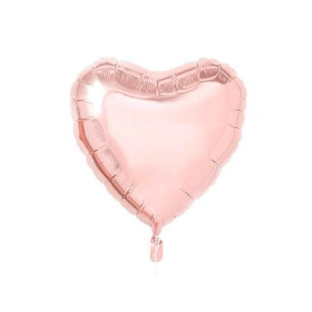 Ballon coeur rose gold - 46 cm