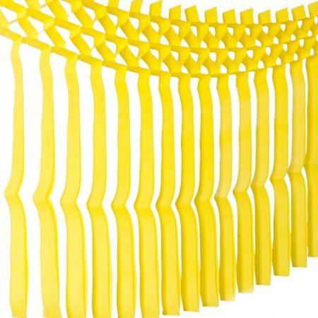 Guirlande de franges jaunes - 3m
