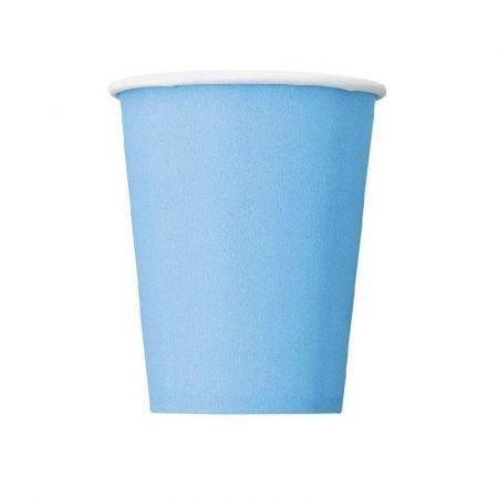 8 gobelets bleus