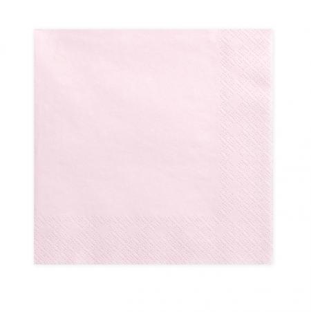 20 serviettes rose pastel