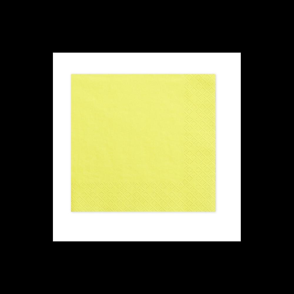 20 serviettes jaune pastel. Black Bedroom Furniture Sets. Home Design Ideas