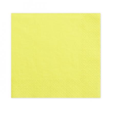 20 serviettes jaunes