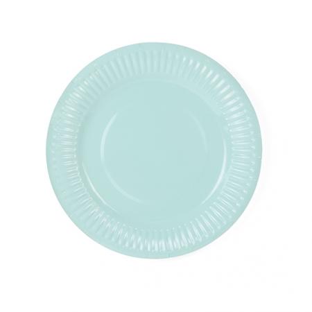 6 assiettes aqua - 18 cm