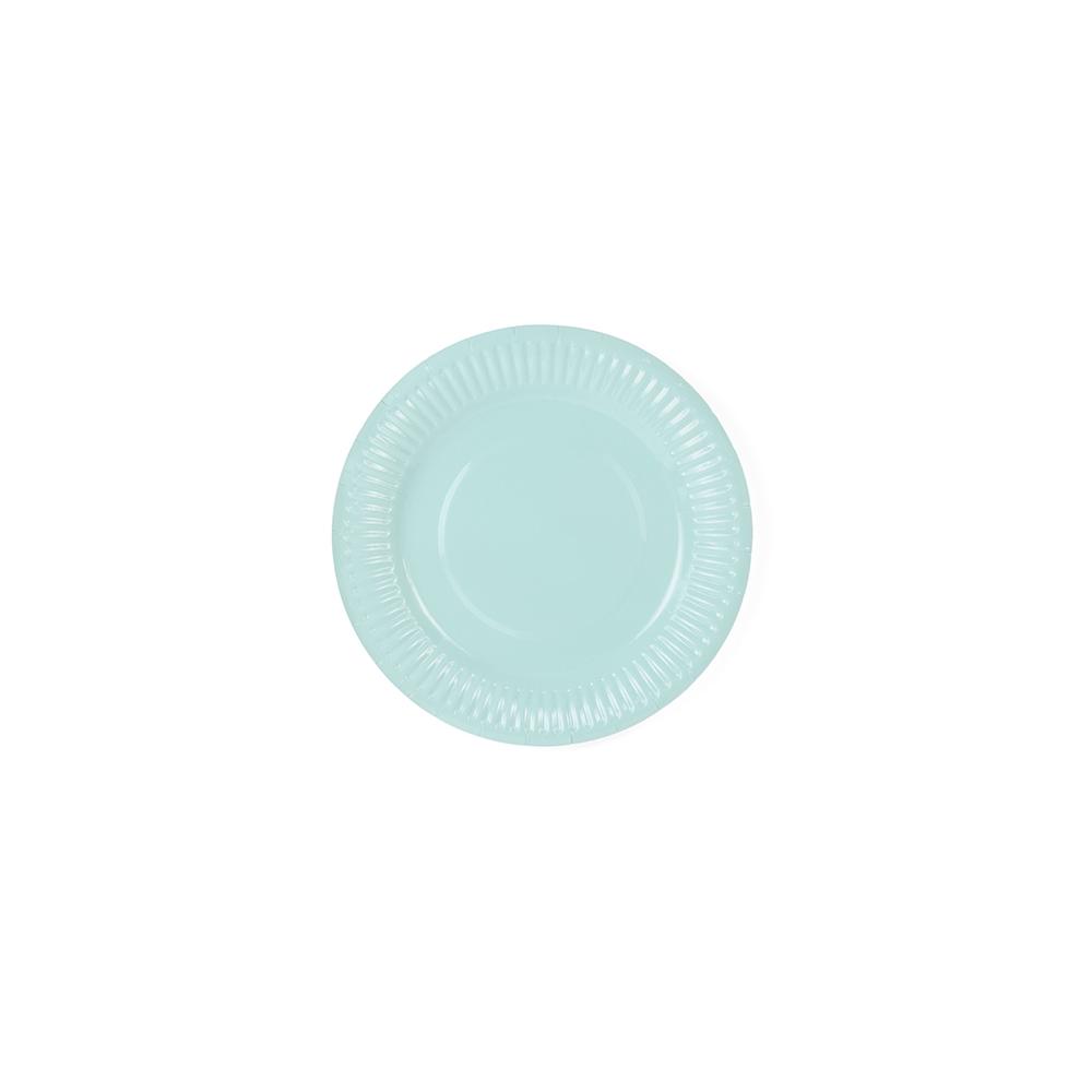6 petites assiettes aqua - 18 cm
