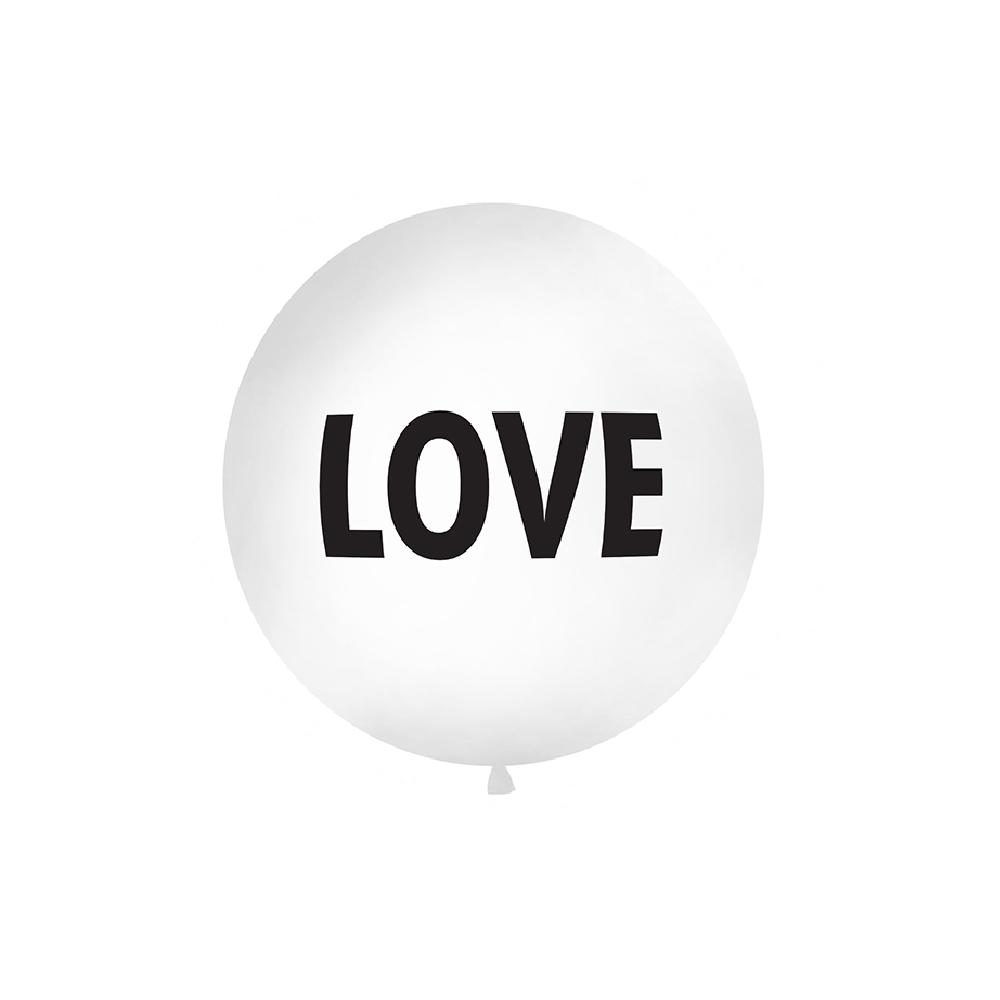 "Ballon géant blanc ""LOVE"" - 1 m"
