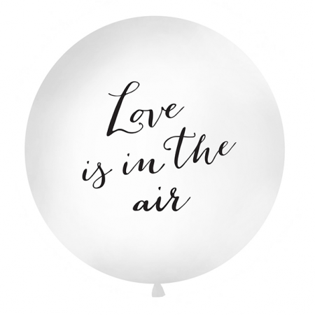 "Ballon géant blanc ""Love is in the air"" - 1 m"