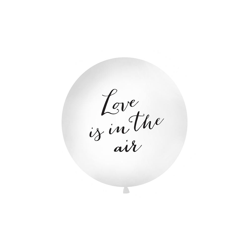 """Ballon géant blanc """"Love is in the air"""" - 1 m"""