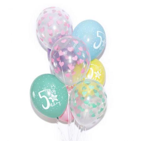 Ballon transparent cœurs roses - 30 cm