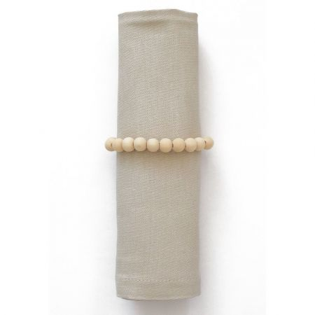 Rond de serviette perles en bois