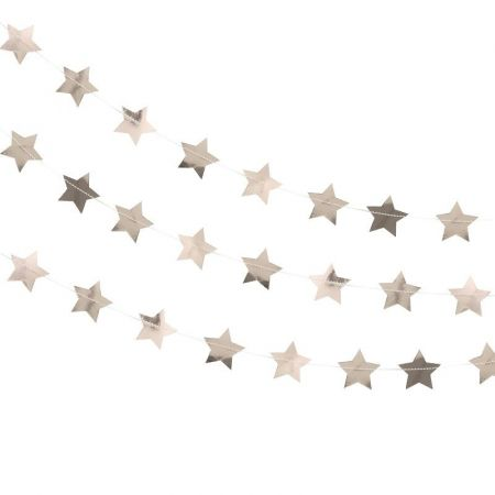 Guirlande étoiles rose gold