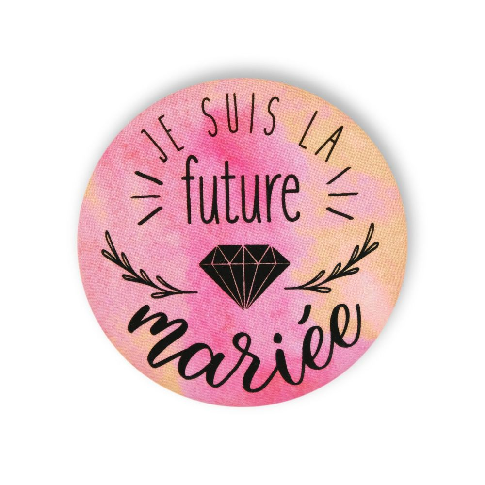 "Badge ""future mariée"""