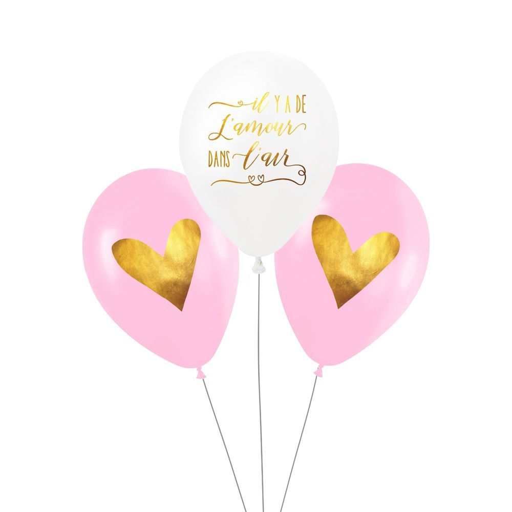"Lot de 3 ballons ""amour"""