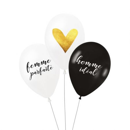 "Lot de 3 ballons ""couple parfait"""