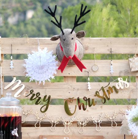"""Guirlande dorée """"Merry christmas"""""""