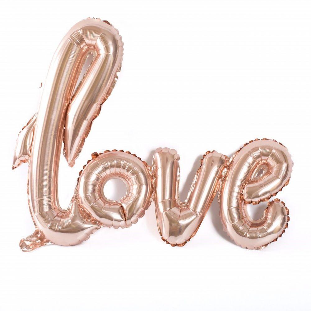 "Ballon ""love"" rose gold - 1 m"