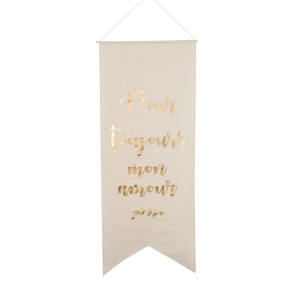 """Tenture géante en lin """"Pour toujours"""" - 180 cm"""