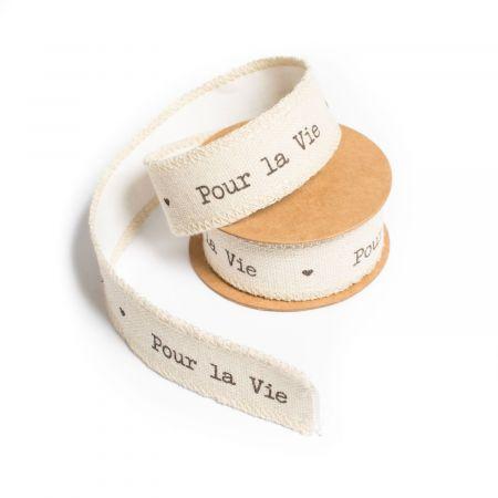 """2 m masking tape """"pour la vie"""" - 2,5 cm"""