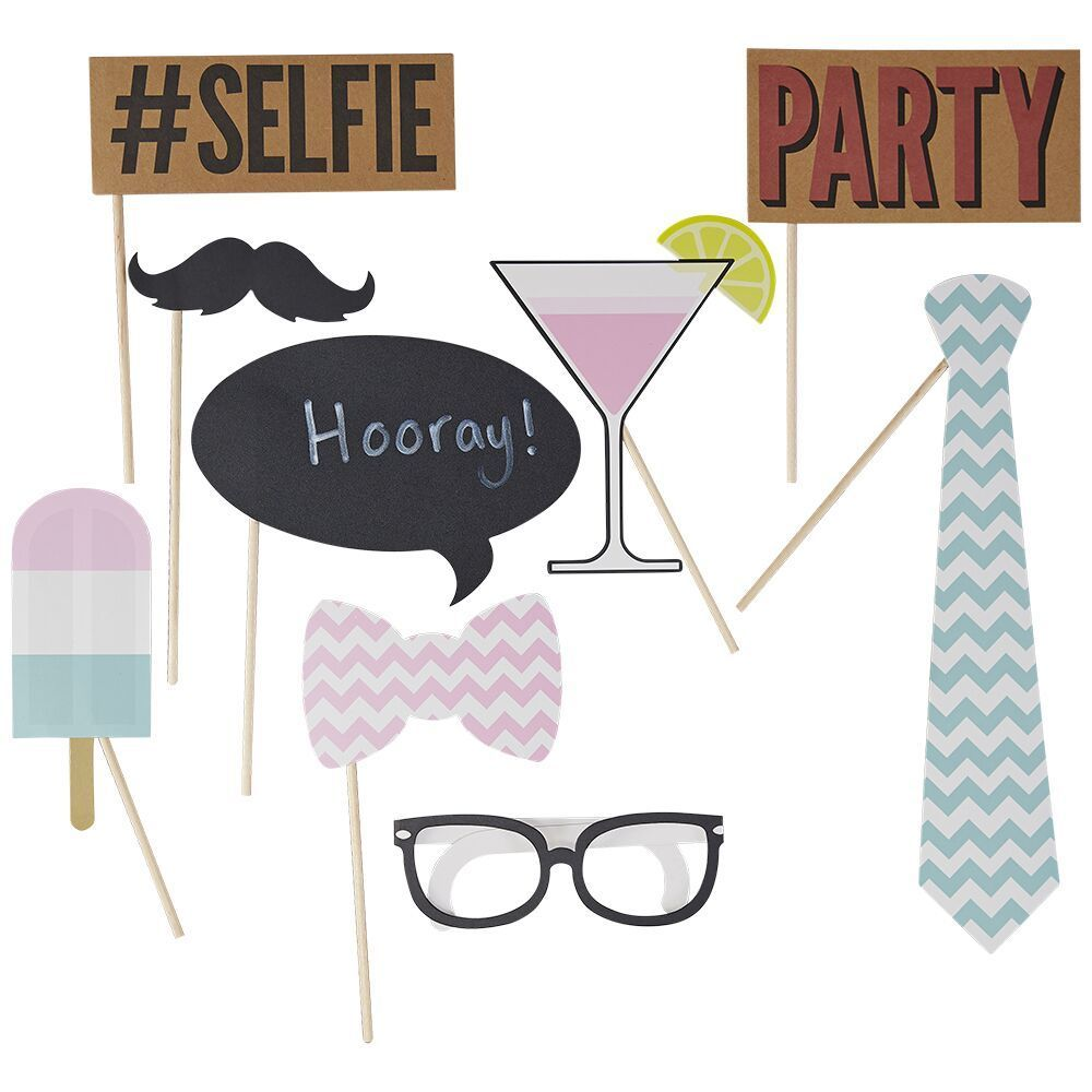 "10 accessoires photobooth ""party"""