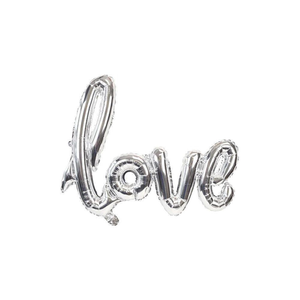 """Ballon """"love"""" argent - 1 m"""