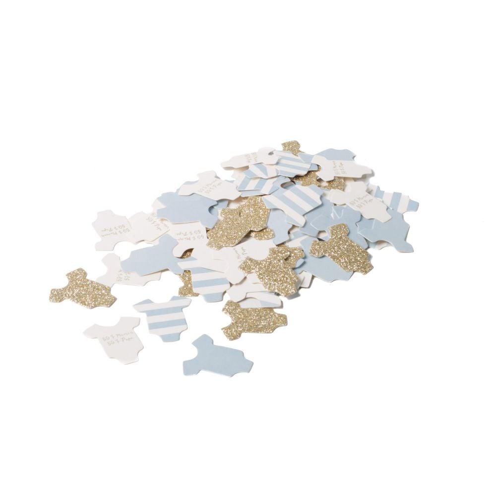 100 confettis body bleus