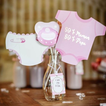 "11 accessoires photobooth ""baby-shower fille"""