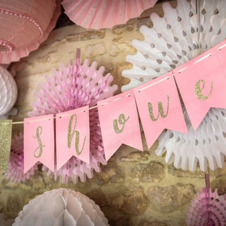 "Guirlande rose ""baby-shower"" - 3,50 m"