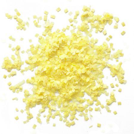 10 g mini confettis jaunes