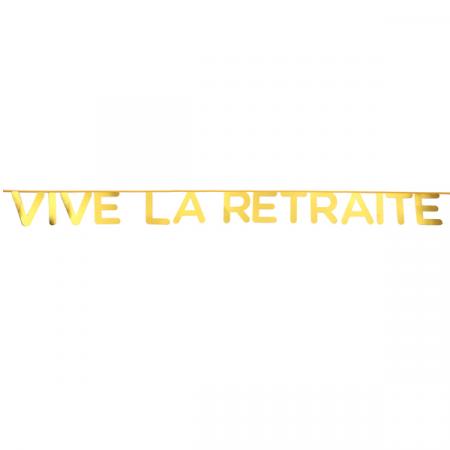 "Guirlande ""Vive la retraite"" doré"
