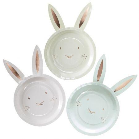 "8 assiettes ""petit lapin"""
