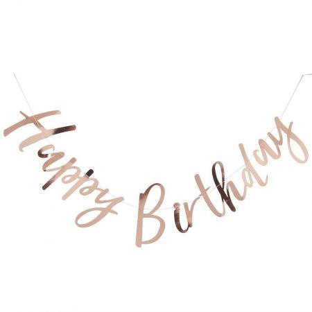 "Guirlande rose gold ""HAPPY BIRTHDAY"""