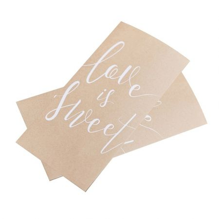 "20 sachets kraft ""Love is sweet"""