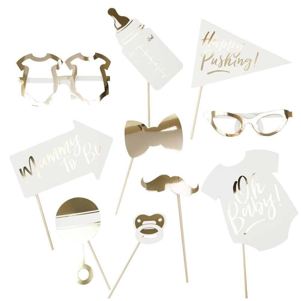 "10 accessoires photobooth ""baby-shower"""