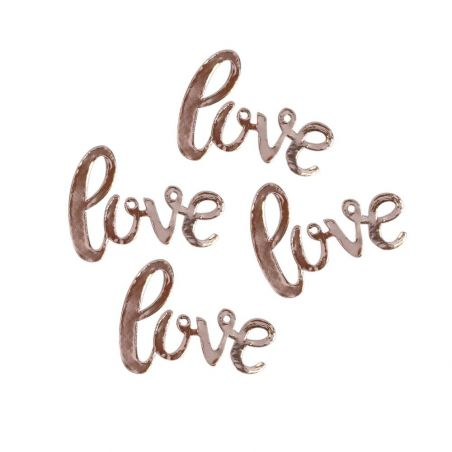 "20 confettis rose gold ""love"""