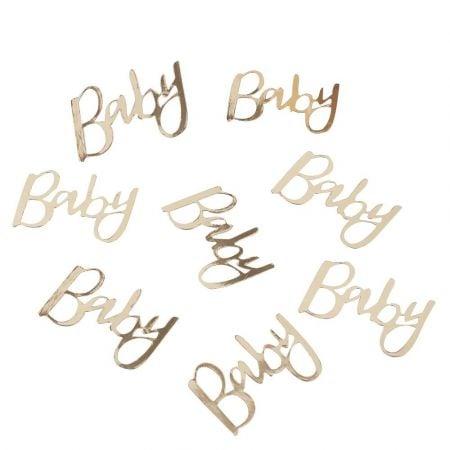 """14 g confettis dorés """"Baby"""""""