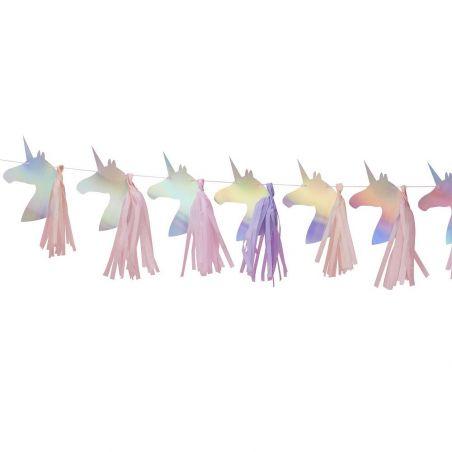 Guirlande têtes de licornes et tassel