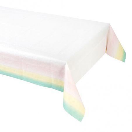Nappe en papier pastel - 180 cm